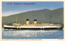 shi056278 - CPR Princeess Marguertie Vancouver, Canada Ship Postcard Post Card
