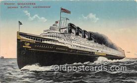 shi056280 - Steamer Seeandbee Buffalo & Cleveland Ship Postcard Post Card