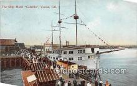 shi056281 - Ship Hotel Cabrillo Venice, Cal USA Ship Postcard Post Card