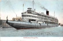 shi056288 - The Whaleback Chicago River Ship Postcard Post Card