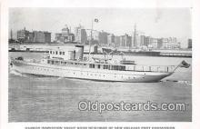 shi056289 - Harbor Inspection Yacht New Orleans Port Commission Ship Postcard Post Card