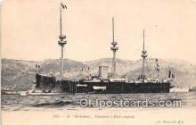 shi056290 - Le Richelieu Cuirasse a Fort Central Ship Postcard Post Card
