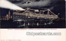 shi056291 - Steamer Theodore Roosevelt Chicago & Michigan City Line Ship Postcard Post Card