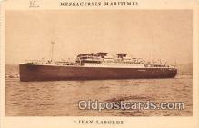 shi056293 - Jean Laborde Messageries Maritimes Ship Postcard Post Card