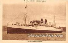 shi056294 - Theophile Gautier Messageries Maritimes Ship Postcard Post Card