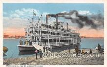 shi056298 - Steamer GW Hill Mississippi River Ship Postcard Post Card