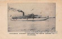 shi056304 - Whaleback Steamer Columbus Chicago to Milwaukee Ship Postcard Post Card