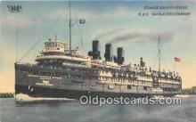 shi056305 - Steamer Greater Detroit D & G Navigation Company Ship Postcard Post Card