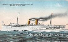 shi056310 - Steamer Yale Metropolitan Steamship Co, Boston, New York Ship Postcard Post Card