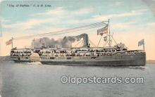 shi056311 - City of Buffalo C & B Line Ship Postcard Post Card