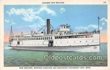 shi056312 - Steamer New Bedford Nantucket Steamboat Line, Mass Ship Postcard Post Card