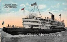 shi056313 - Whaleback Steamer Christopher Columbus Chicago & Milwaukee Ship Postcard Post Card