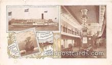 shi056314 - Steamer Plymouth Grand Saloon Ship Postcard Post Card