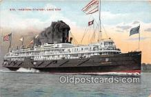 shi056315 - Str Western States Lake Erie Ship Postcard Post Card