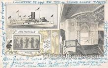shi056316 - Str Priscilla Panel, Bulk Head, Main Stairway Ship Postcard Post Card