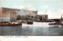 shi056318 - Royal Castle Stockholm, Sweden Ship Postcard Post Card
