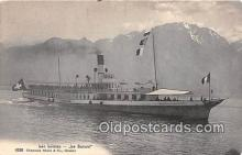 shi056319 - Lac Leman La Suisse Ship Postcard Post Card