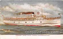 shi056324 - Steamship United States Indiana Transportation Co Ship Postcard Post Card