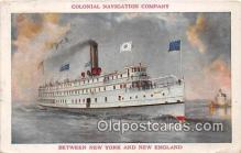shi056325 - Colonial Navigation Company New York & New England Ship Postcard Post Card