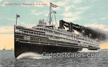 shi056326 - Steamer City of Cleveland D & C Line Ship Postcard Post Card
