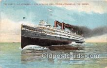 shi056331 - New D & C Steamer Largest Side Wheel Steamer in the World Ship Postcard Post Card