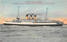 shi056334 - CPR SS Princess Kathleen Vancouver, Canada Ship Postcard Post Card
