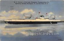 shi056337 - MV Valcour of the Lake Champlain Transportation Co Port Kent, NY Ship Postcard Post Card