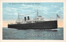 shi056338 - Pere Marquette Carferry 21 Lake Michigan Ship Postcard Post Card