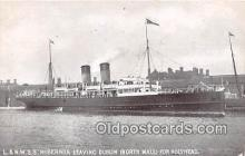 shi056339 - L & NWSS Hibernia Dublin, North Wall, Holyhead Ship Postcard Post Card
