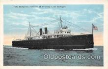 shi056340 - Pere Marquette Carferry 21 Lake Michigan Ship Postcard Post Card