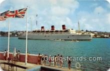 shi056342 - QTEV Queen of Bermuda Princess Hotel Ship Postcard Post Card