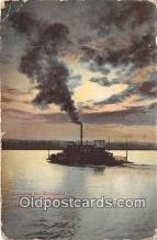 shi056347 - Crossing the Columbia Vancouver, Washington Ship Postcard Post Card