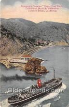 shi056348 - Steamship Avalon, Sugar Loaf Rock Catalina Island, California Ship Postcard Post Card