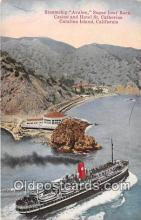 shi056350 - Steamship Avalon, Sugar Loaf Rock Catalina Island, California Ship Postcard Post Card
