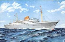 shi056352 - Norwegian American Line MS Oslofjord Ship Postcard Post Card