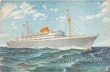 shi056353 - Norwegian American Line MS Oslofjord Ship Postcard Post Card