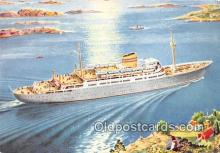shi056354 - Norwegian American Line MS Oslofjord Ship Postcard Post Card