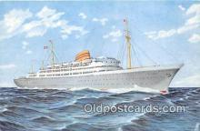 shi056355 - Norwegian American Line MS Oslofjord Ship Postcard Post Card