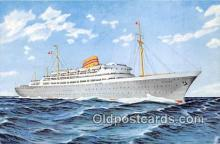 shi056356 - Norwegian American Line MS Oslofjord Ship Postcard Post Card