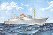 shi056357 - Norwegian American Line MS Oslofjord Ship Postcard Post Card