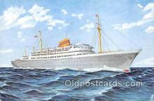 shi056358 - Norwegian American Line MS Oslofjord Ship Postcard Post Card