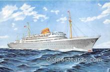 shi056359 - Norwegian American Line MS Oslofjord Ship Postcard Post Card