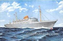 shi056360 - Norwegian American Line MS Oslofjord Ship Postcard Post Card
