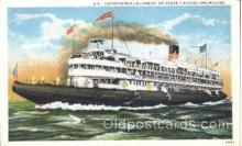 shi058007 - S.S. Christopher Columbus Steamer, Steamers, Ship, Ships Postcard Postcards