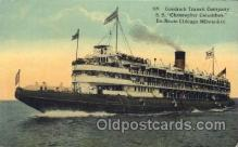 shi058010 - S.S. Christopher Columbus Steamer, Steamers, Ship, Ships Postcard Postcards