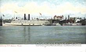 shi058019 - Albany, N.Y. Steamer -Morse Steamer, Steamers, Ship, Ships Postcard Postcards