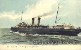 shi058023 - Calais - The queen Steamer, Steamers, Ship, Ships Postcard Postcards