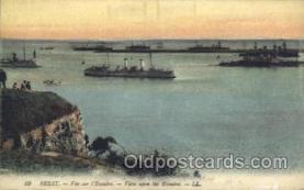 shi058037 - Brest - Ver sur l'Escadre Steamer, Steamers, Ship, Ships Postcard Postcards