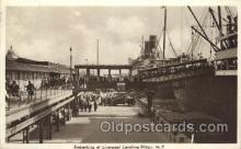 shi058038 - Embarking at liverpool landing Steamer, Steamers, Ship, Ships Postcard Postcards