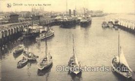 shi058052 - Ostende Le Port et la Gare maritime Steamer, Steamers, Ship, Ships Postcard Postcards